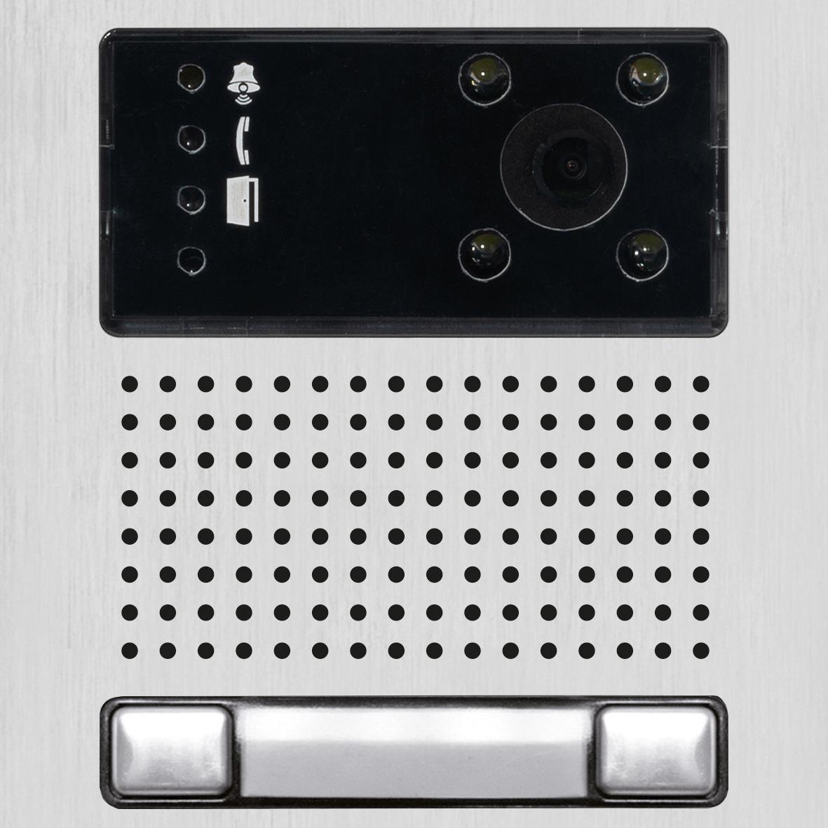 IP-Modul mit Kamera und einem Doppeltaster